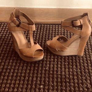 Heeled Wedge Sandal